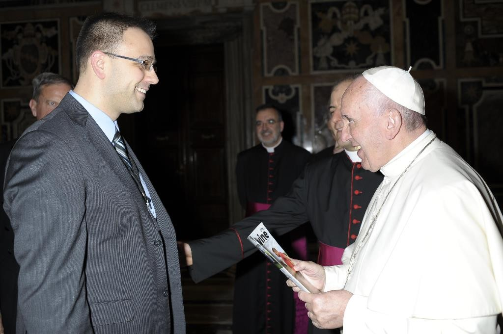 Jeff Lockert with Pope Francis 4